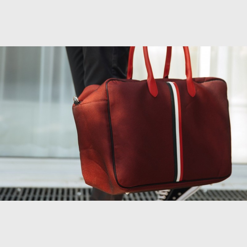 sac-mixte-rouge-tricolore-tissu-cuir