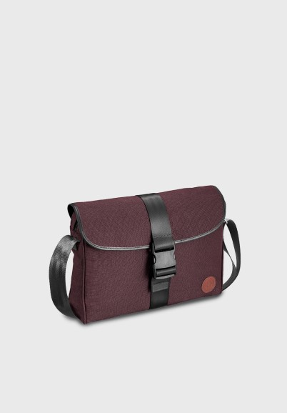 Burgundy messenger for man