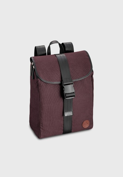 Burgundy backpack unisex in...