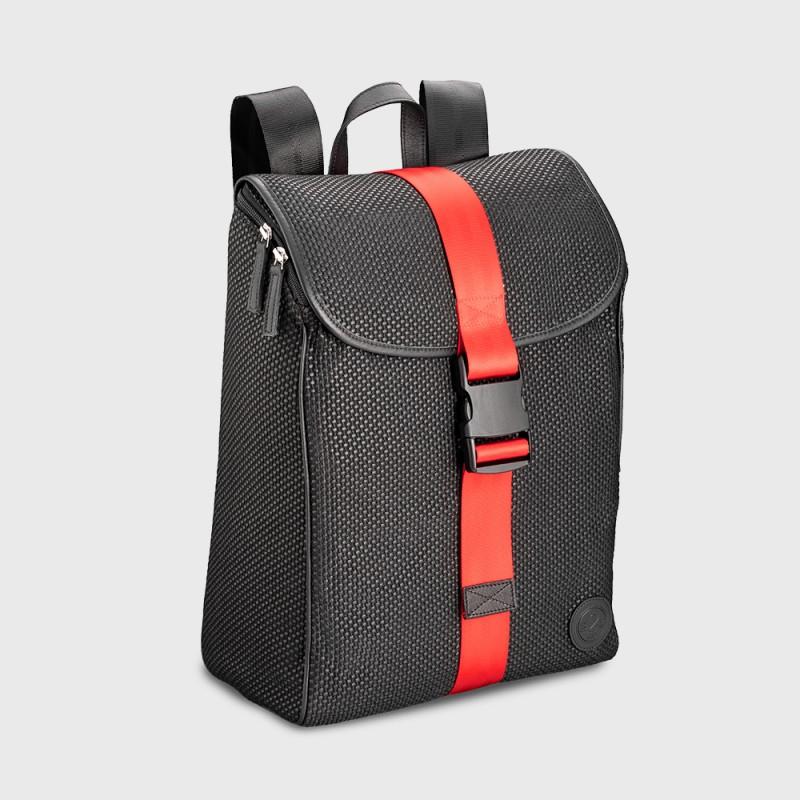 sac-dos-retro-rouge-noir-ceinture-de-sécurité