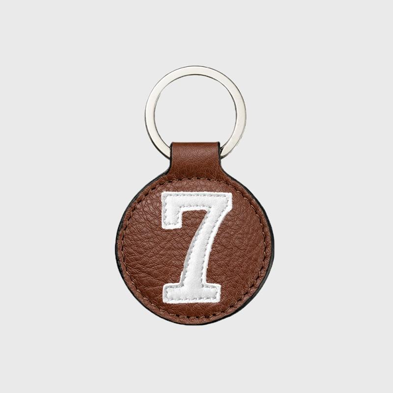 porte-clefs-mixte-marron-numéro-chance
