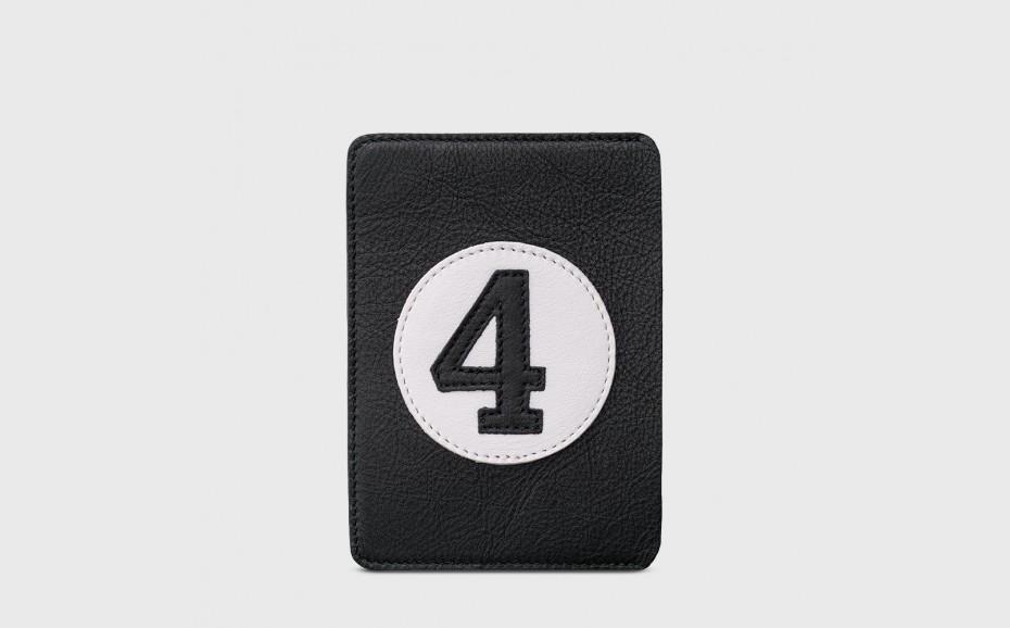 Passport holder in black...
