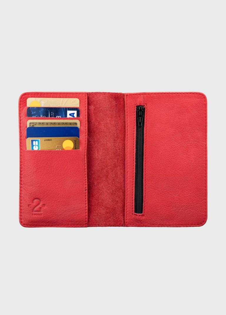 portefeuille-rouge-cuir-vachette-qualité-e2r-paris-original-rétro