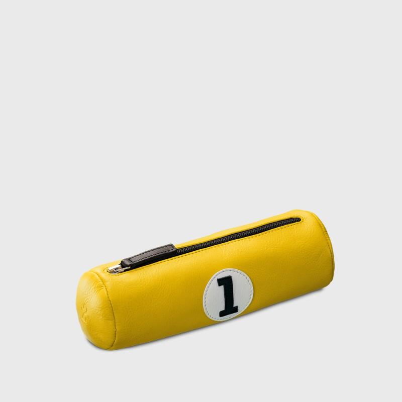 trousse-ecolier-jaune-cuir-recyclé-durable-e2r-paris