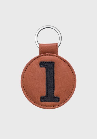 Leather keychain for man or...