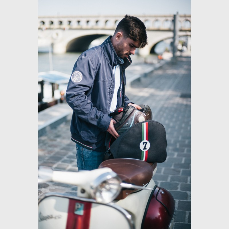 sac casque retro moto