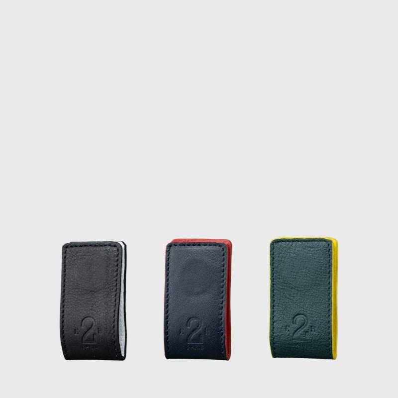 pince-billet-upcyclé-originale-colorée-mixte-durable-cuir
