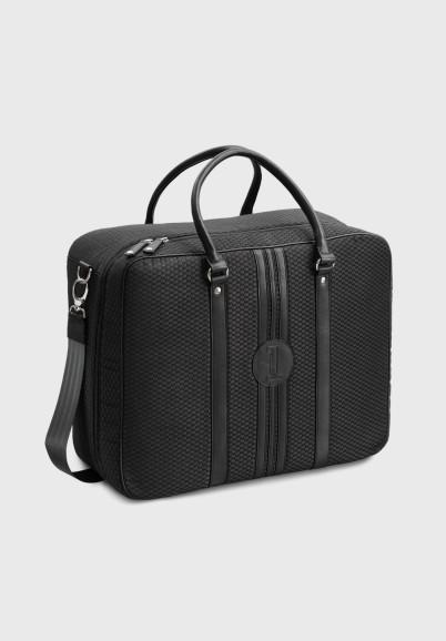 sac-voyage-homme-tissu-cuir-upcyclé-retro-spacieux-grand-idéal-beau