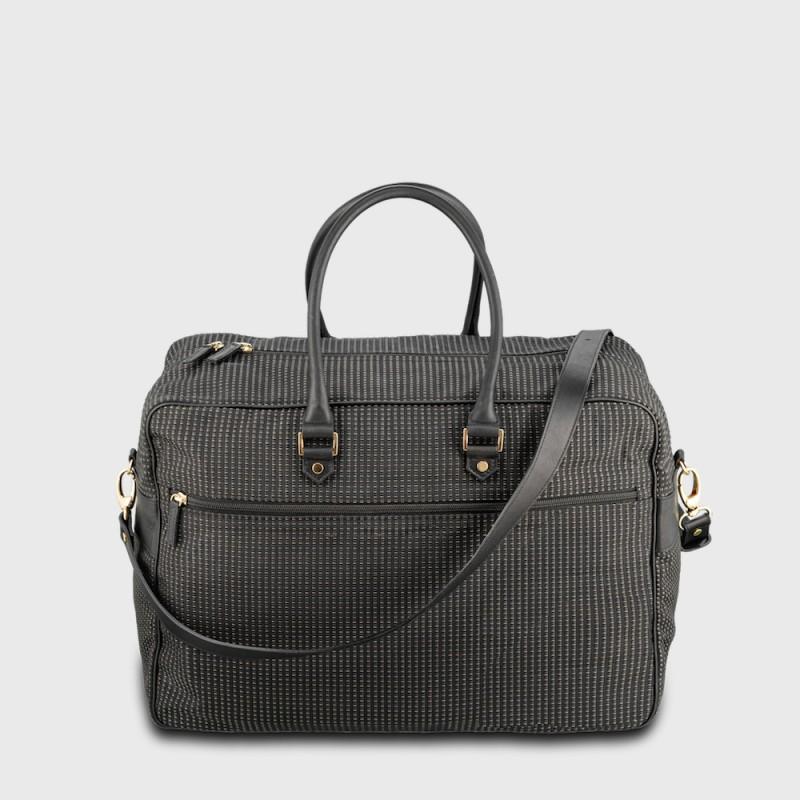 bagage-voyage-tissu-cuir-élégant-pratique-ecoresponsable