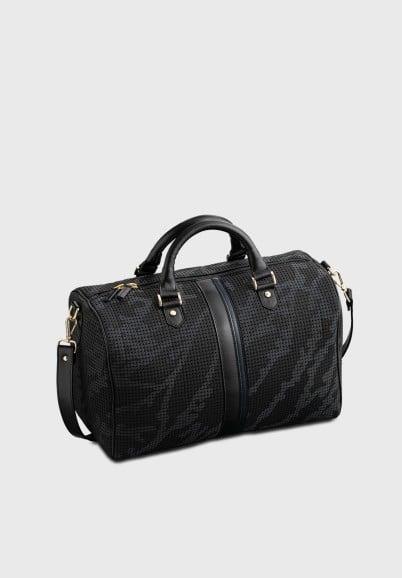 sac-fourre-tout-femme-noir-recylé-cuir-rétro-compact