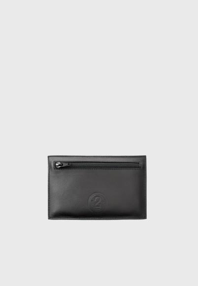 pochette banane cuir noir