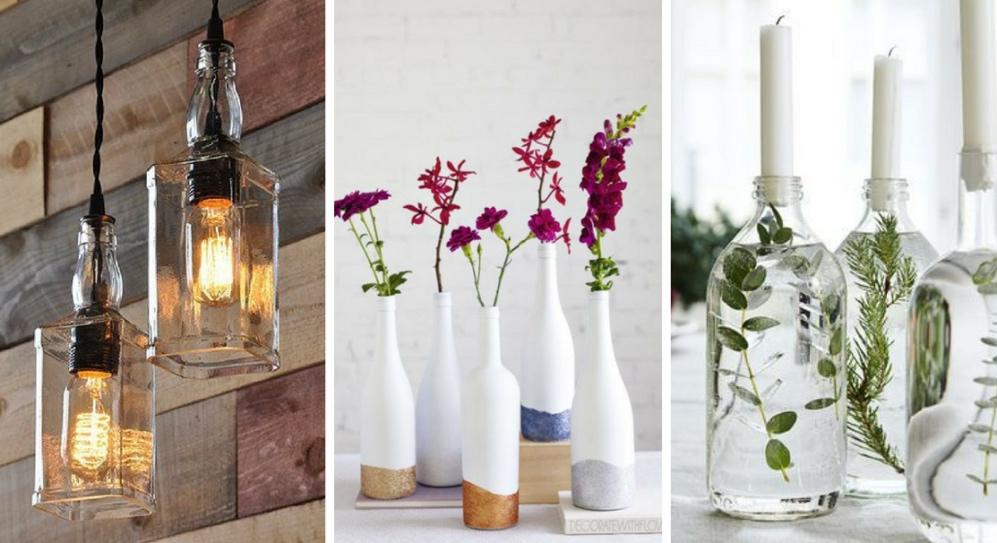Use bottles as vases
