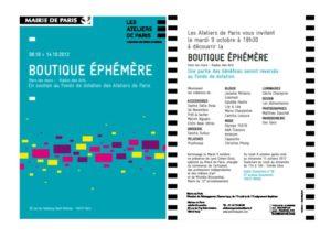 Entre 2 rétros à la Boutique Ephémère des Ateliers de Paris